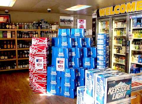 Package liquor store Cody WY beer wine liquor store
